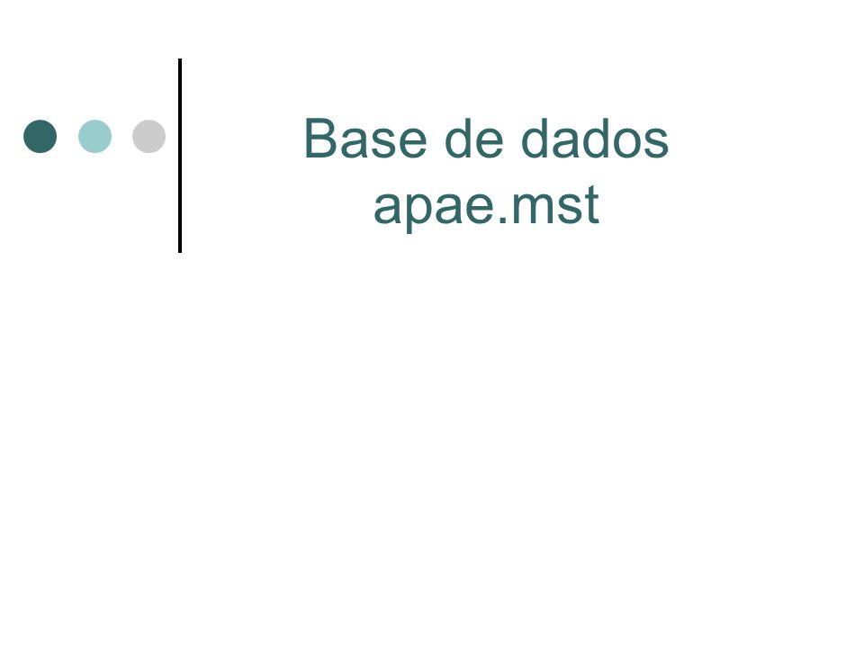 Base de dados apae.mst