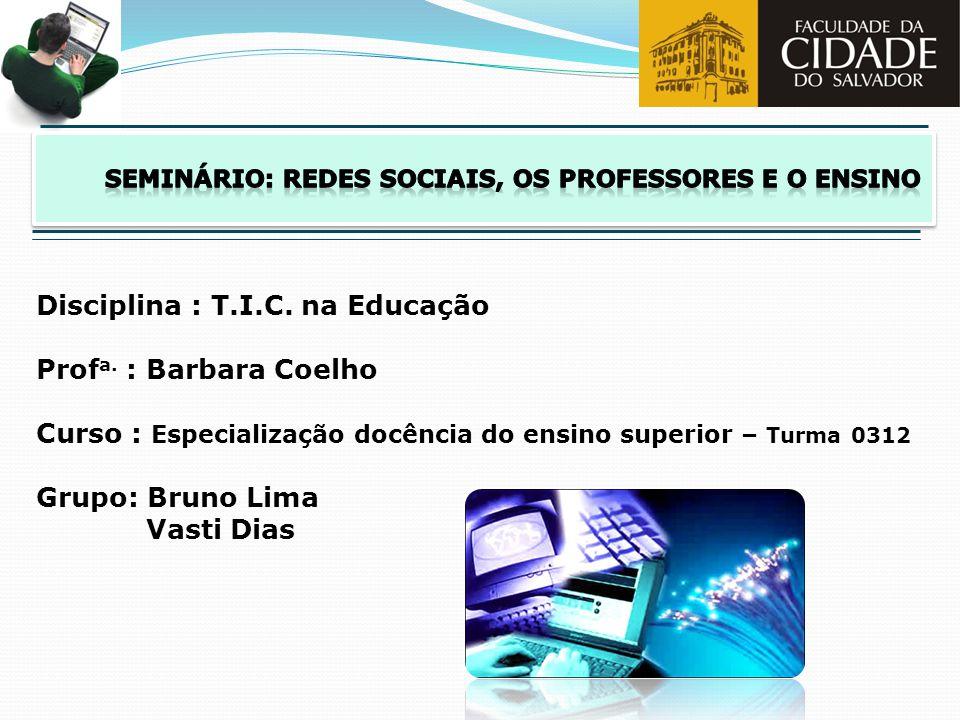 seminário: redes sociais, os professores e o ensino