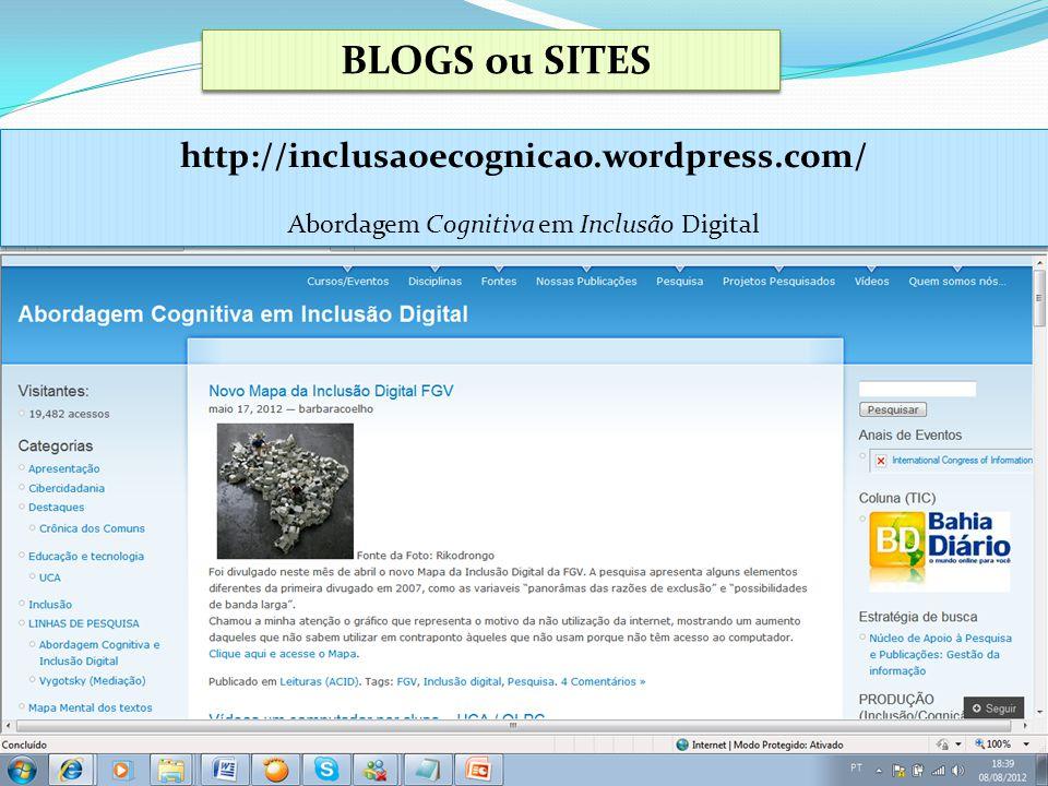 Abordagem Cognitiva em Inclusão Digital
