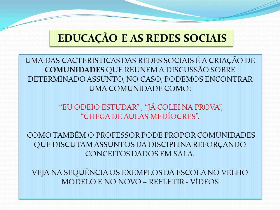 EDUCAÇÃO E AS REDES SOCIAIS