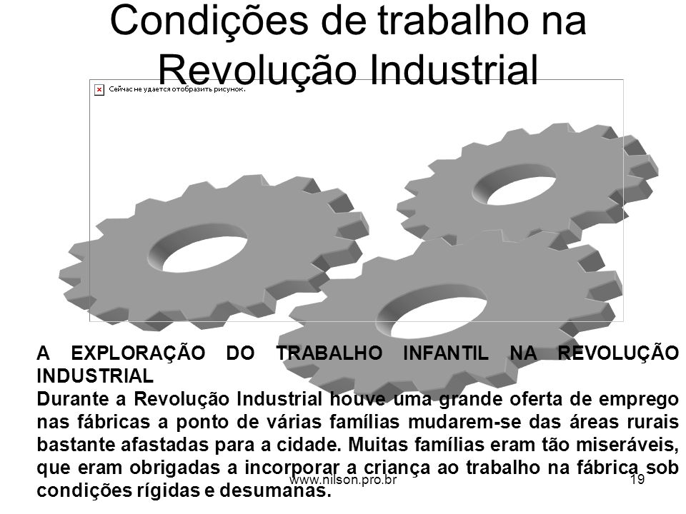Condições de trabalho na Revolução Industrial