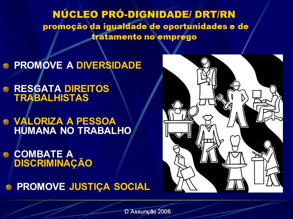 PROMOVE JUSTIÇA SOCIAL