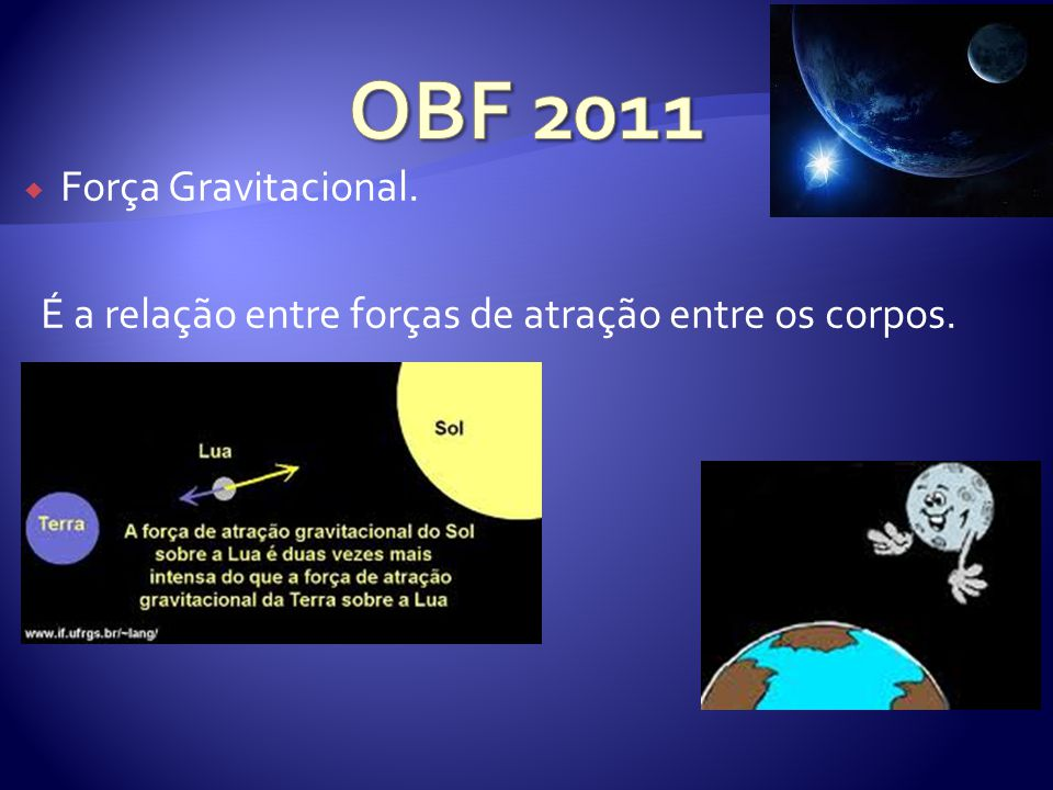 OBF 2011 Força Gravitacional.