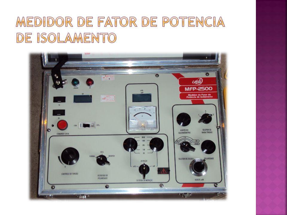 medidor de fator de potencia de isolamento