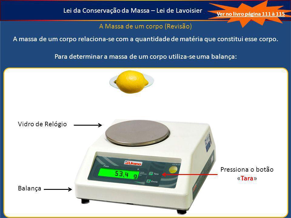 Lei da Conservação da Massa – Lei de Lavoisier