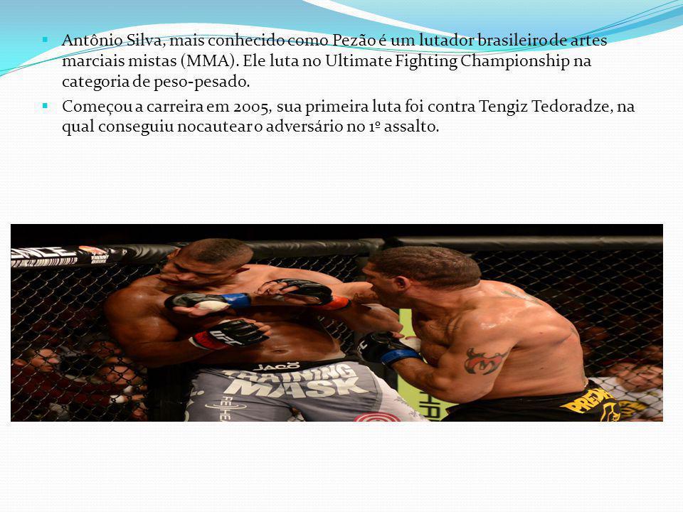 Antônio Silva, mais conhecido como Pezão é um lutador brasileiro de artes marciais mistas (MMA). Ele luta no Ultimate Fighting Championship na categoria de peso-pesado.
