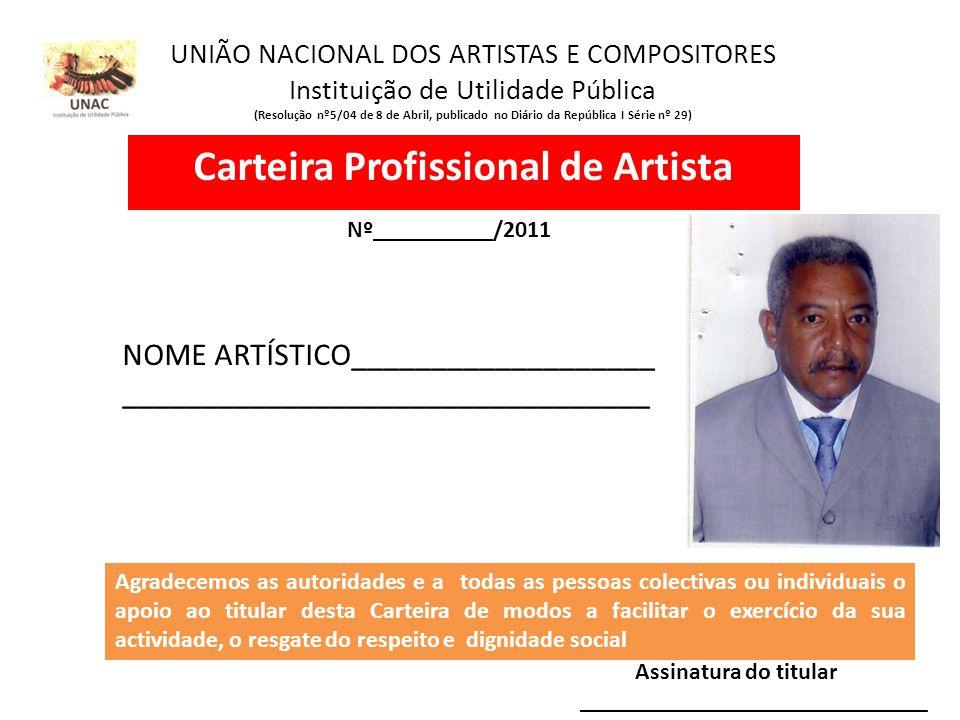 Carteira Profissional de Artista