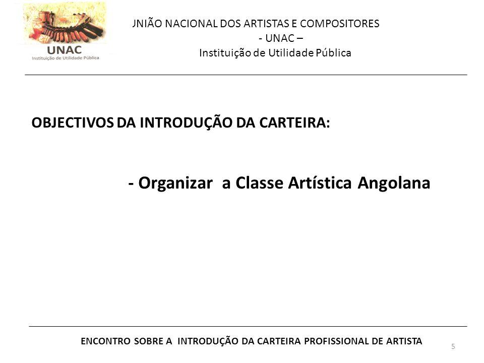 ENCONTRO SOBRE A INTRODUÇÃO DA CARTEIRA PROFISSIONAL DE ARTISTA