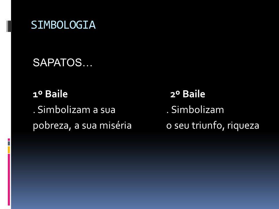 SIMBOLOGIA SAPATOS… 1º Baile 2º Baile . Simbolizam a sua . Simbolizam