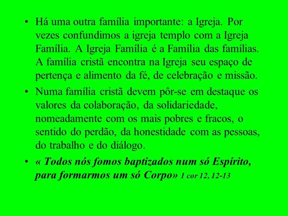 Há uma outra família importante: a Igreja
