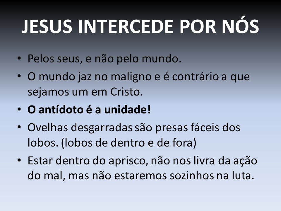 JESUS INTERCEDE POR NÓS