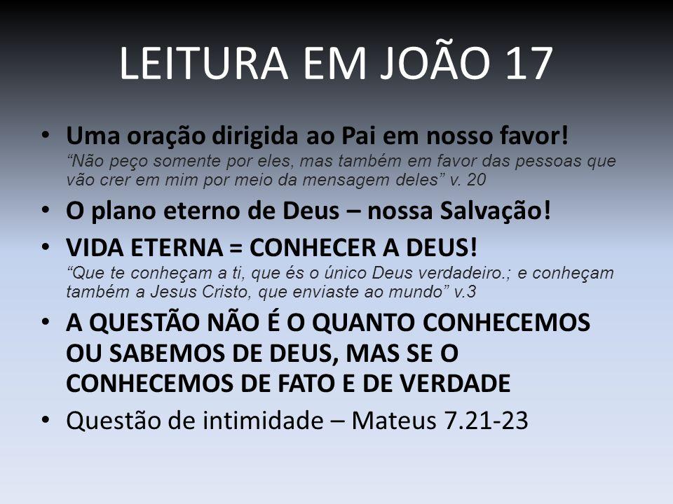 LEITURA EM JOÃO 17