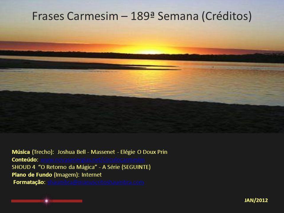 Frases Carmesim – 189ª Semana (Créditos)