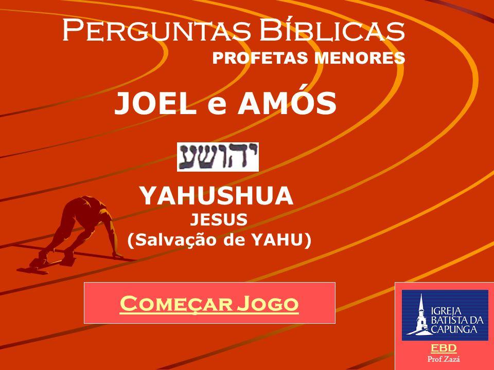 Perguntas Bíblicas JOEL e AMÓS YAHUSHUA Começar Jogo JESUS