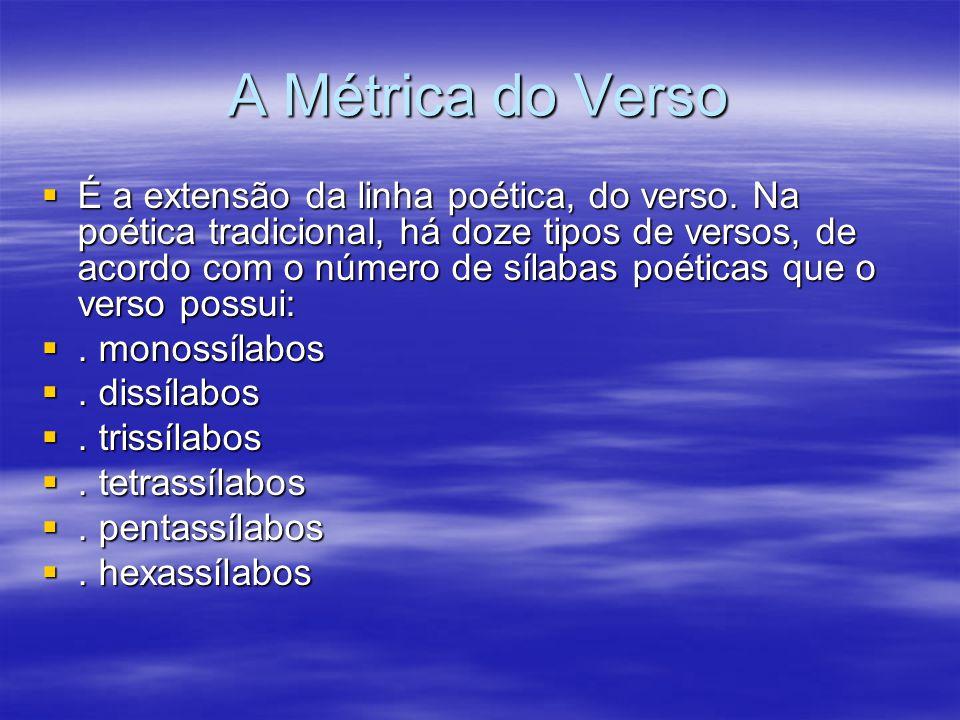 A Métrica do Verso