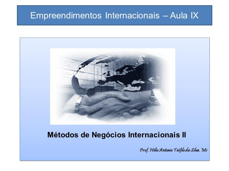 Empreendimentos Internacionais – Aula IX
