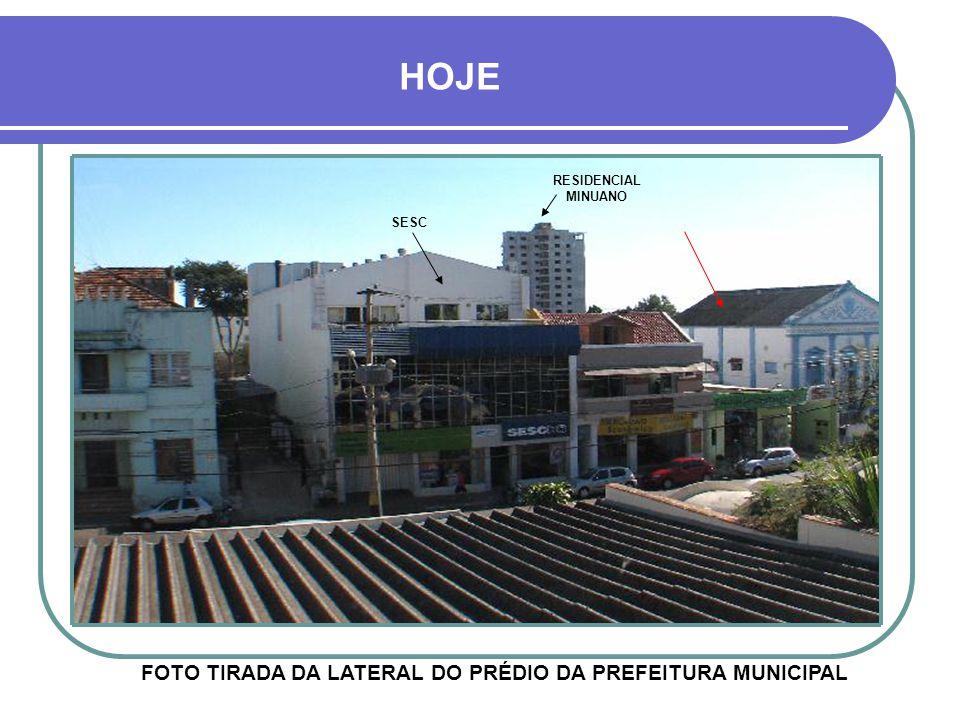 FOTO TIRADA DA LATERAL DO PRÉDIO DA PREFEITURA MUNICIPAL