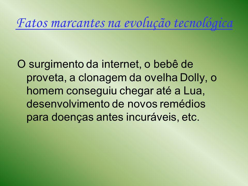 Fatos marcantes na evolução tecnológica