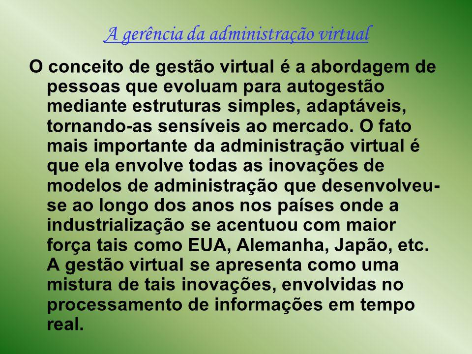 A gerência da administração virtual