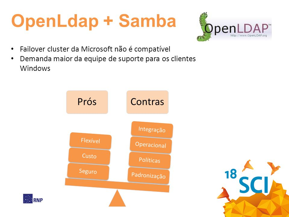 OpenLdap + Samba Failover cluster da Microsoft não é compatível