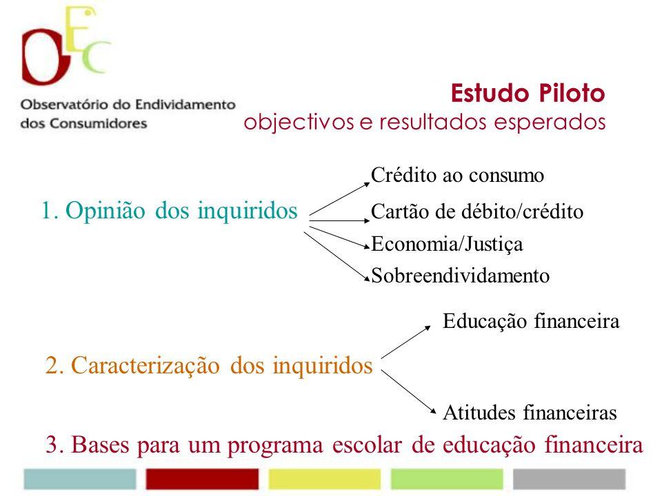 Estudo Piloto objectivos e resultados esperados