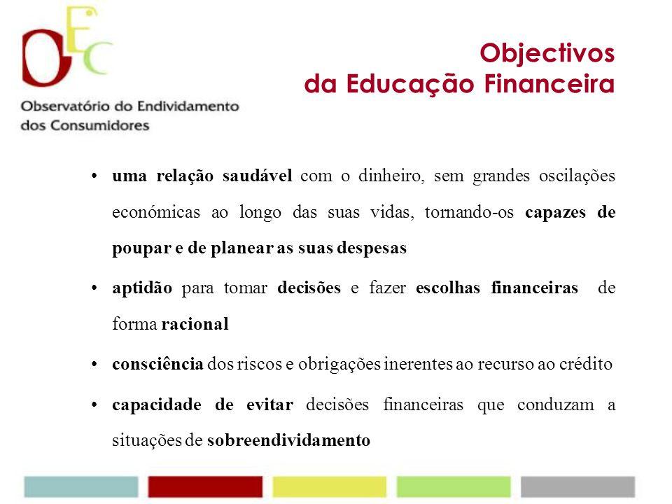 Objectivos da Educação Financeira