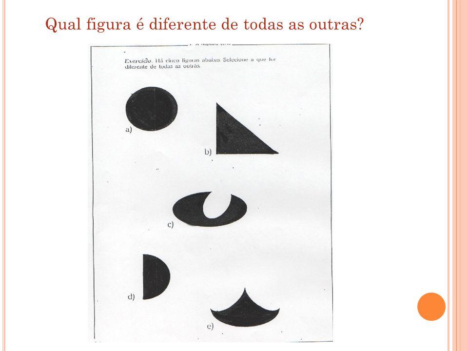 Qual figura é diferente de todas as outras
