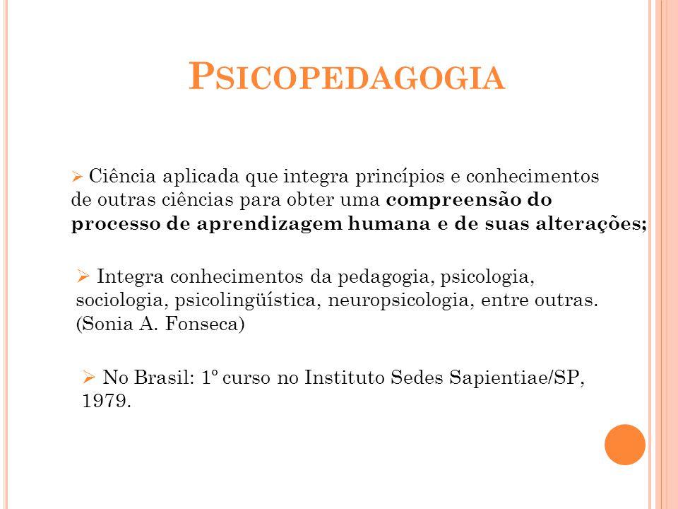 Psicopedagogia de outras ciências para obter uma compreensão do