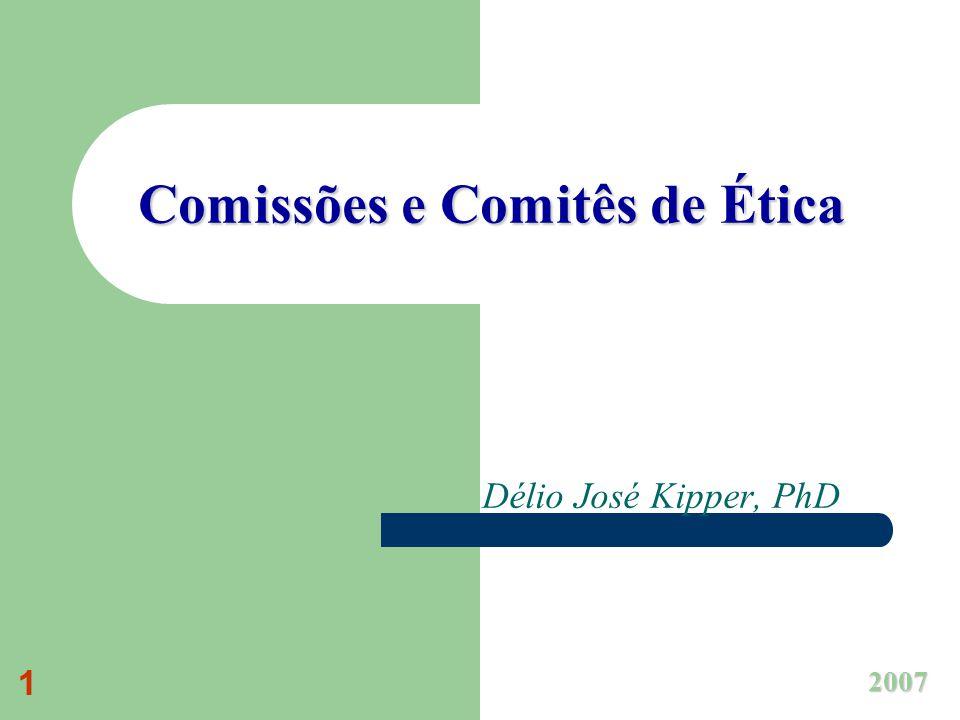 Comissões e Comitês de Ética