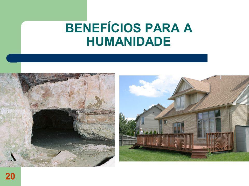 BENEFÍCIOS PARA A HUMANIDADE