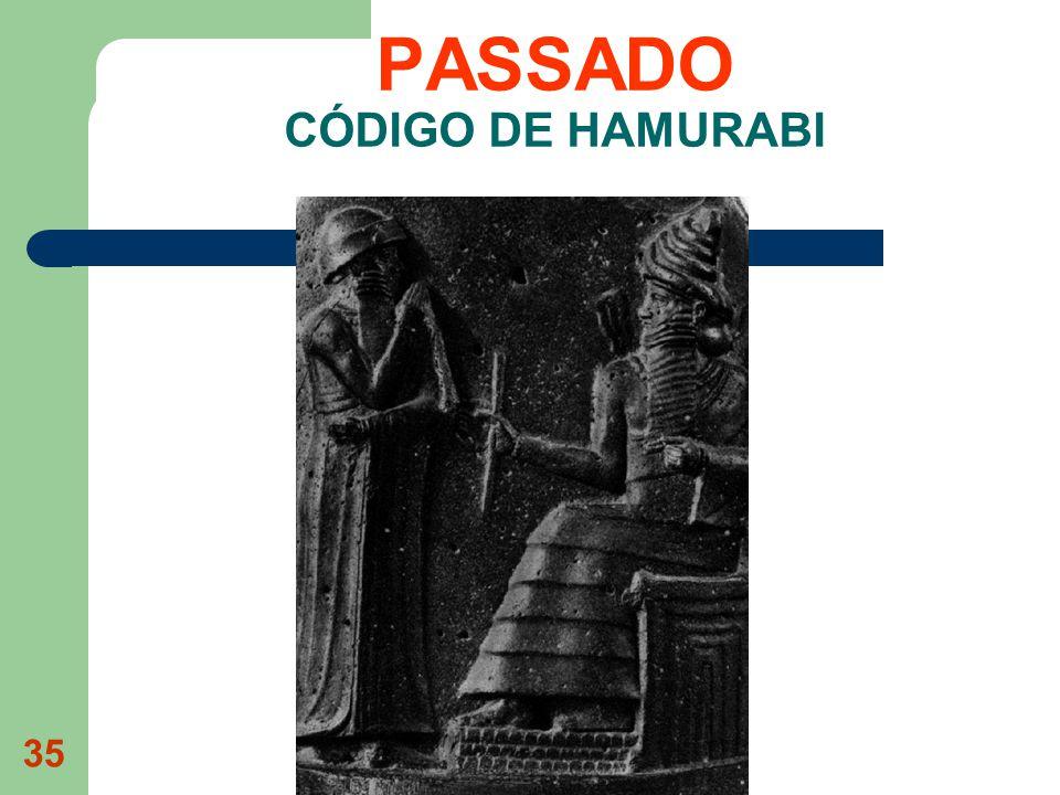 PASSADO CÓDIGO DE HAMURABI