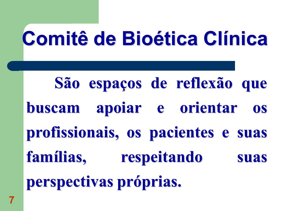 Comitê de Bioética Clínica