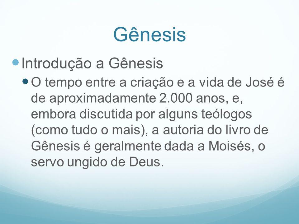Gênesis Introdução a Gênesis