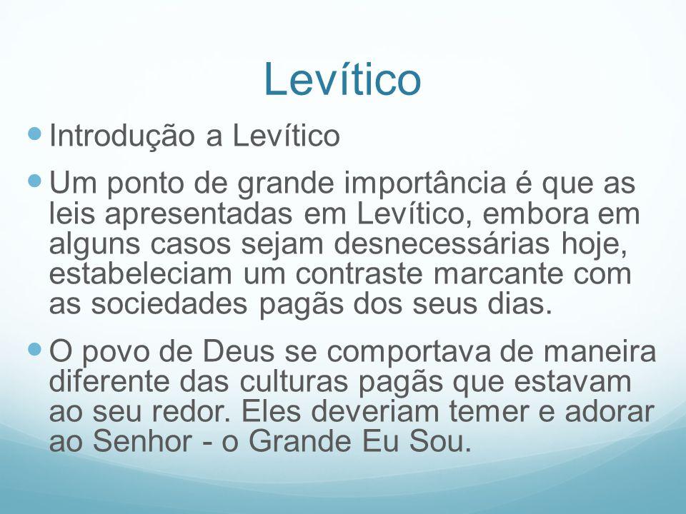 Levítico Introdução a Levítico