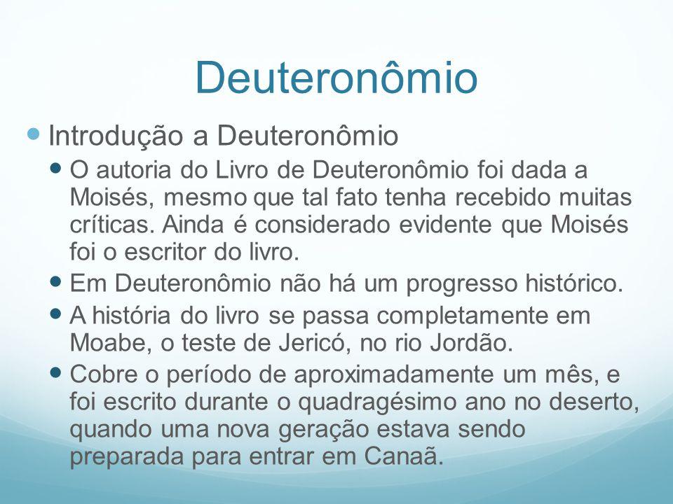 Deuteronômio Introdução a Deuteronômio