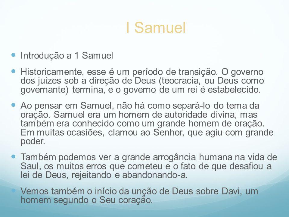 I Samuel Introdução a 1 Samuel