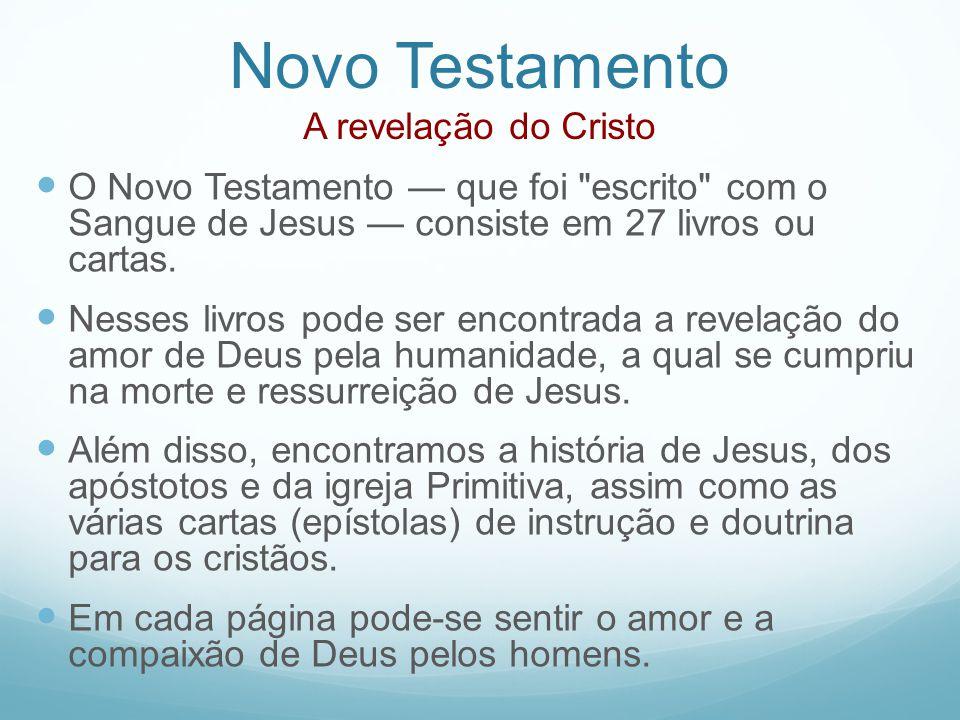 Novo Testamento A revelação do Cristo