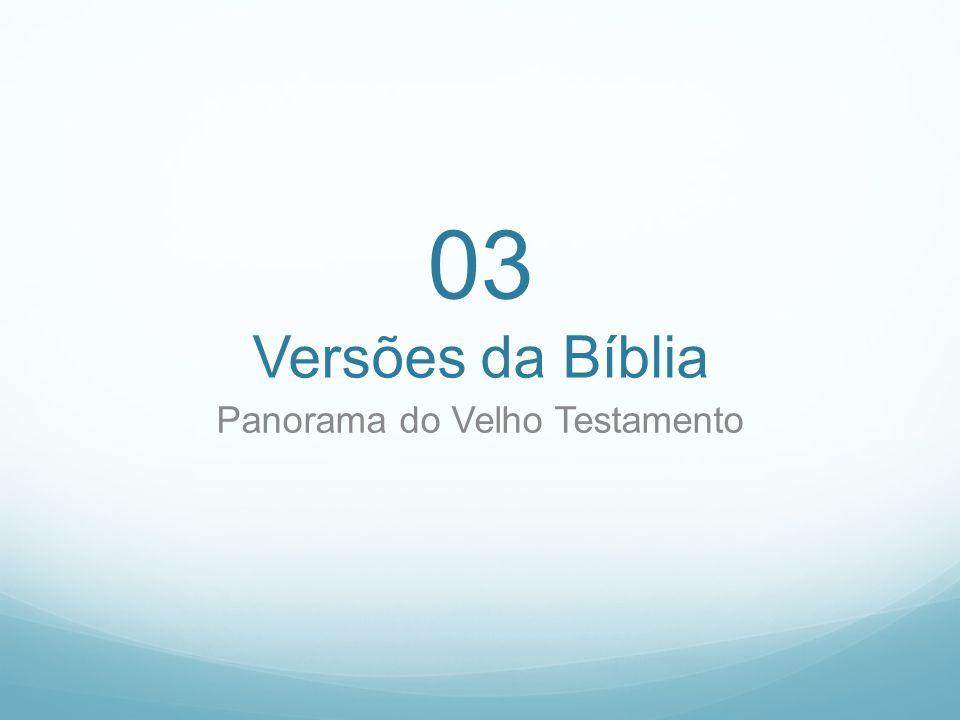 Panorama do Velho Testamento