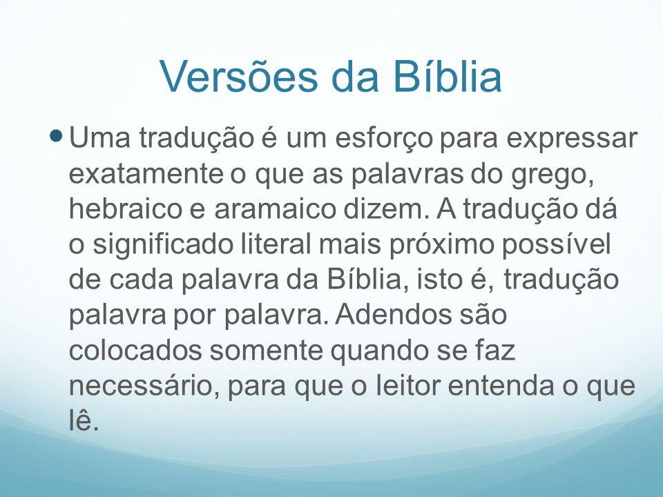 Versões da Bíblia