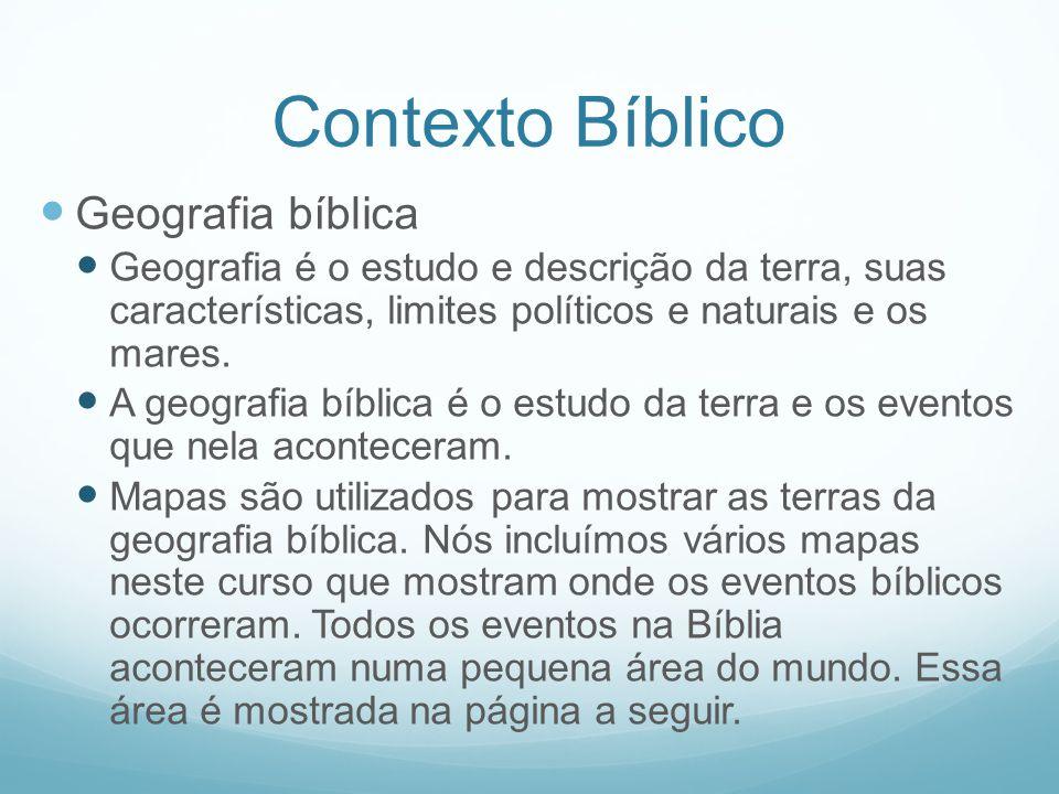 Contexto Bíblico Geografia bíblica