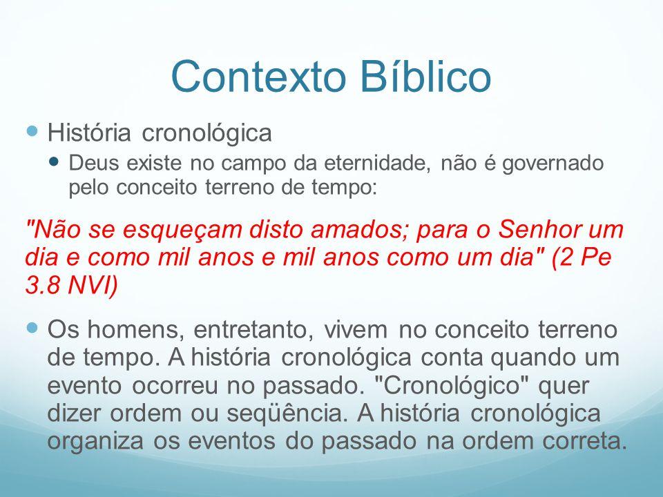 Contexto Bíblico História cronológica