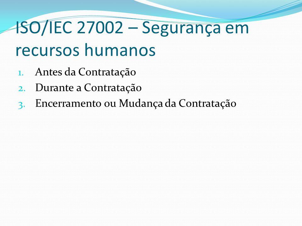 ISO/IEC 27002 – Segurança em recursos humanos
