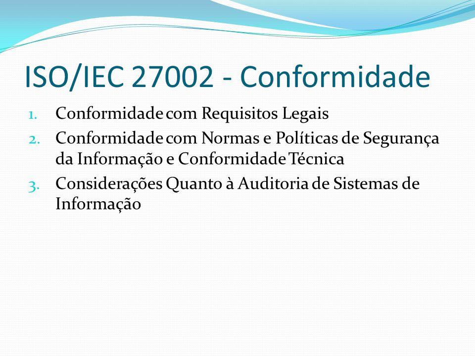 ISO/IEC 27002 - Conformidade