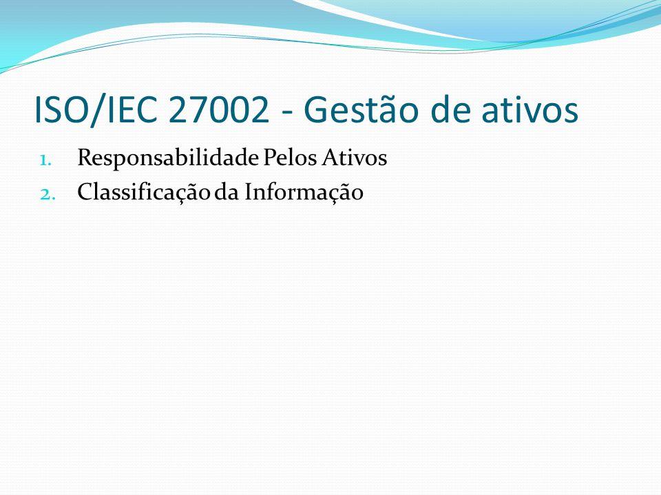 ISO/IEC 27002 - Gestão de ativos