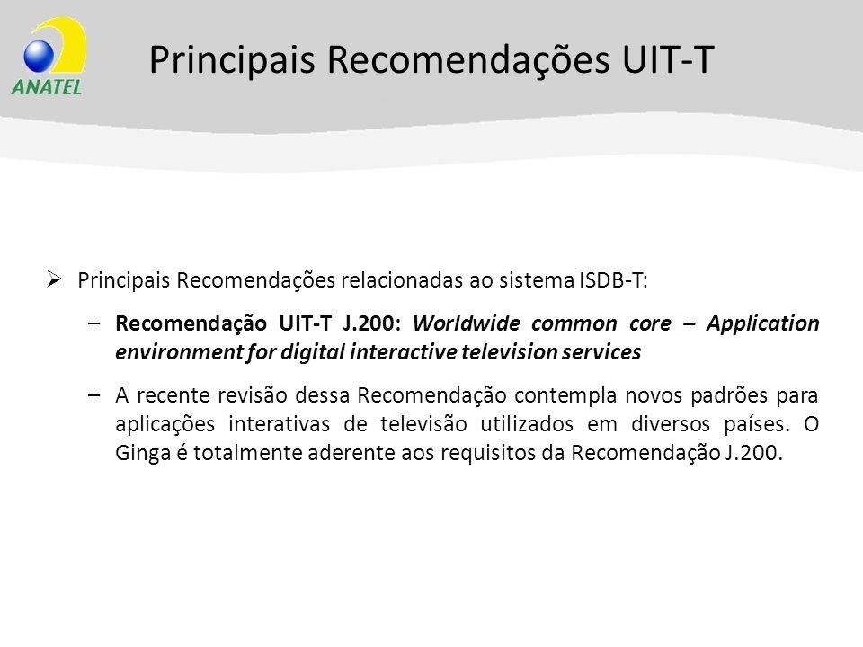 Principais Recomendações UIT-T