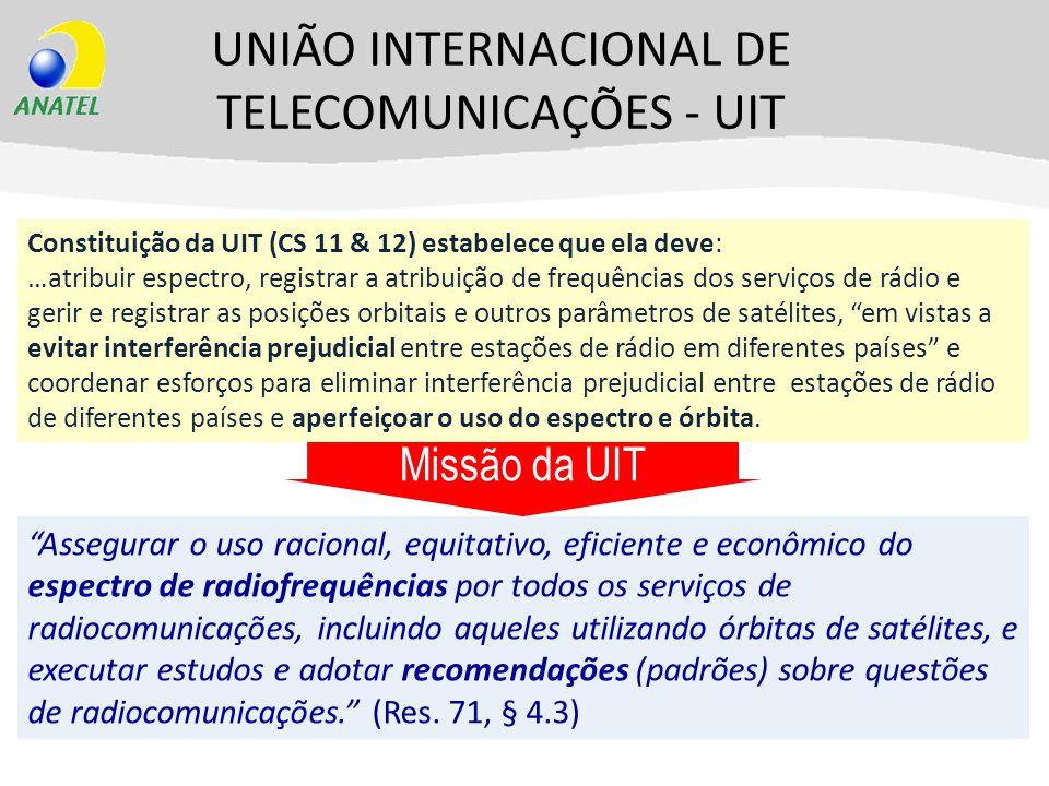 UNIÃO INTERNACIONAL DE TELECOMUNICAÇÕES - UIT