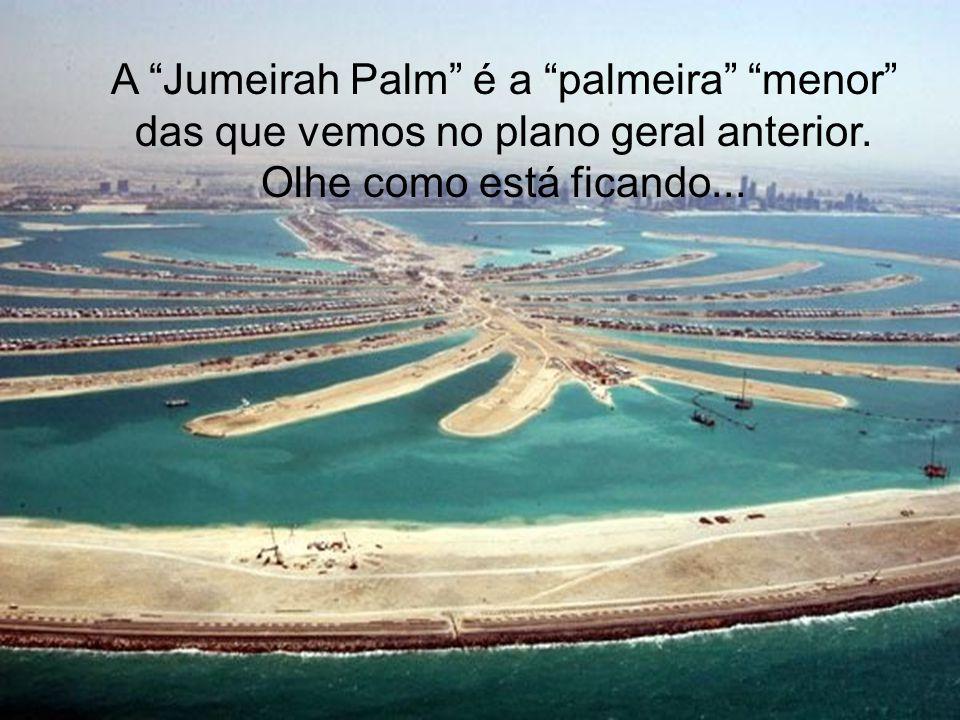 A Jumeirah Palm é a palmeira menor das que vemos no plano geral anterior.