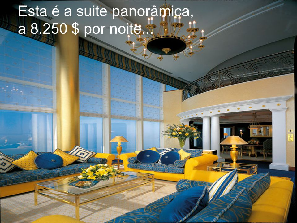 Esta é a suite panorâmica,