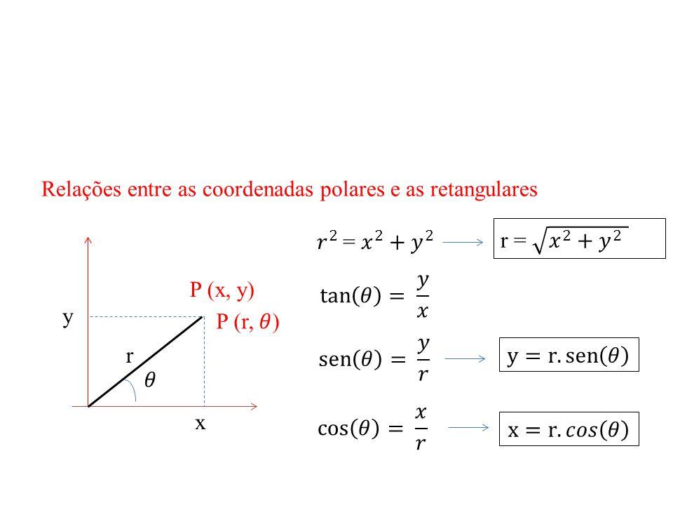 Relações entre as coordenadas polares e as retangulares