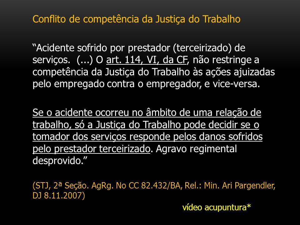 Conflito de competência da Justiça do Trabalho